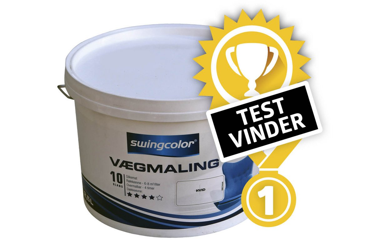 Picture of: Test Af Vaegmaling Her Er Den Bedste Maling I 2019
