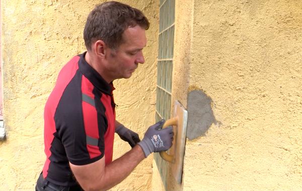 maling af pudset væg udendørs