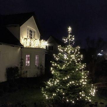 Lige ud Hvad koster udendørs julelys i strøm? IR72