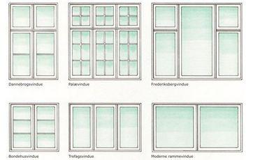 vinduer uden sprosser