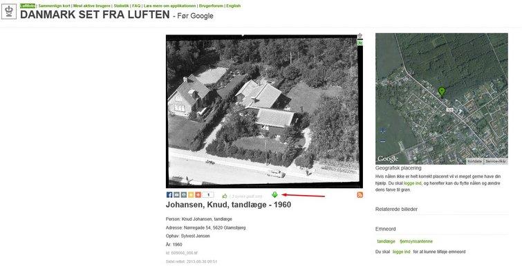 Find Gamle Luftfotos Af Dit Barndomshjem Sadan